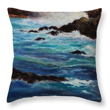 Monterey Wave #2 Throw Pillow