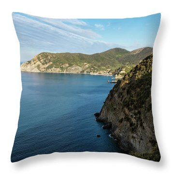 Monterosso And The Cinque Terre Coast Throw Pillow