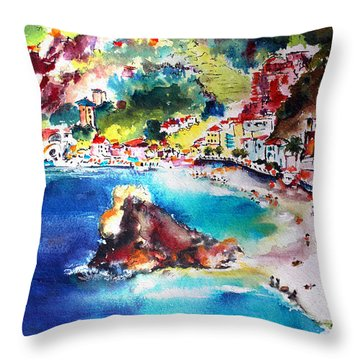 Monterosso  Cinque Terre Italy  Throw Pillow