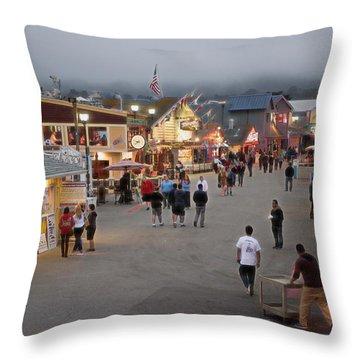 Monterrey Wharf Throw Pillow