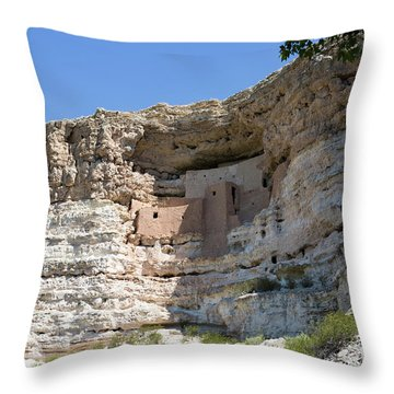 Montezuma Castle National Monument Arizona Throw Pillow