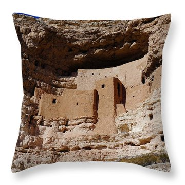 Montezuma Castle Throw Pillow