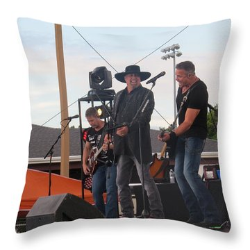 Throw Pillow featuring the photograph Montgomery Gentry by Aaron Martens