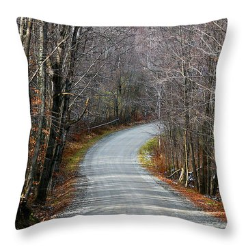 Montgomery Mountain Rd. Throw Pillow