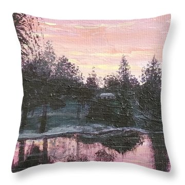 Montgomery Pond Throw Pillow