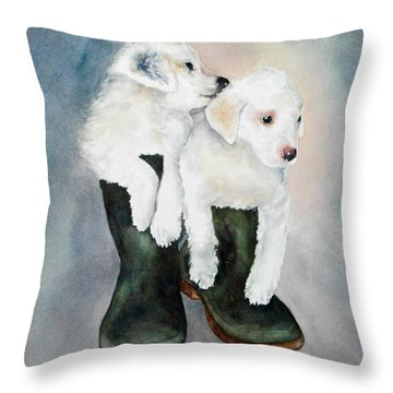 Monti And Gemma Throw Pillow