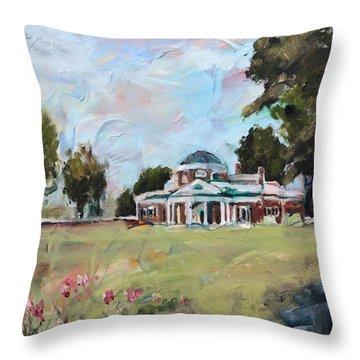 Monticello Charlottesville Virginia Throw Pillow