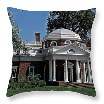 Monticello Throw Pillow by DigiArt Diaries by Vicky B Fuller