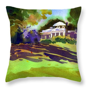 Monticello In October Throw Pillow by Lee Klingenberg
