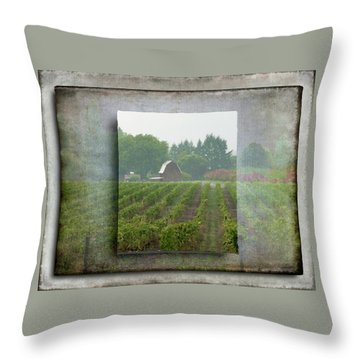 Montinore Winery Throw Pillow by Jeffrey Jensen
