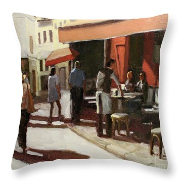 Montmarte Cafe Throw Pillow