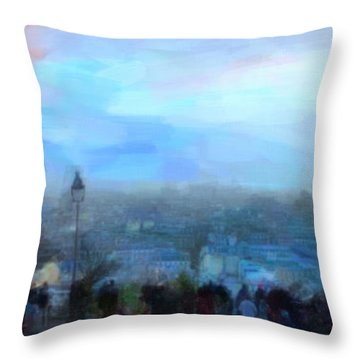 Montmartre From The Butte Throw Pillow