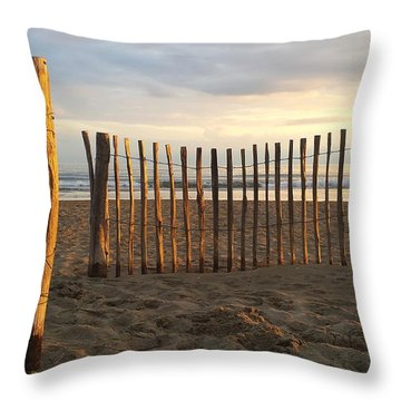 Montpellier France Beach  Throw Pillow by Beryllium Photography