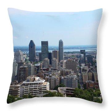 Montreal Cityscape Throw Pillow