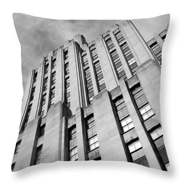 Throw Pillow featuring the photograph Montreal Skyscraper by Valentino Visentini