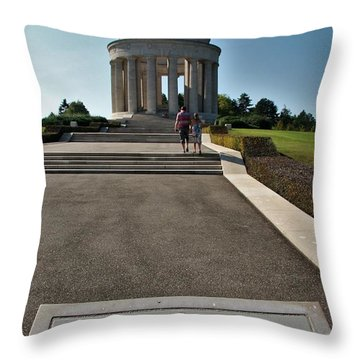 Montsec American Monument Throw Pillow by Travel Pics