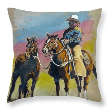 Monty Roberts Throw Pillow