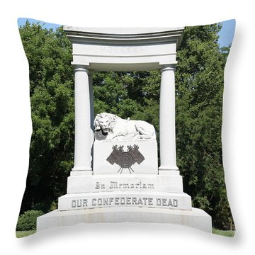 Monument At Higginsville   Missouri Throw Pillow