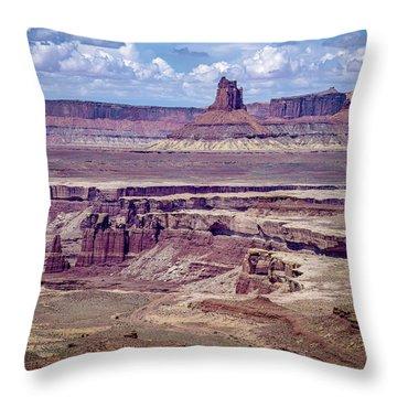 Monument Basin, Canyonlands Throw Pillow