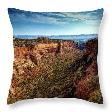 Monument Canyon And Saddlehorn Throw Pillow