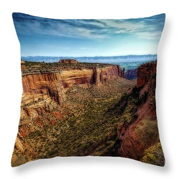 Monument Canyon And Saddlehorn Throw Pillow