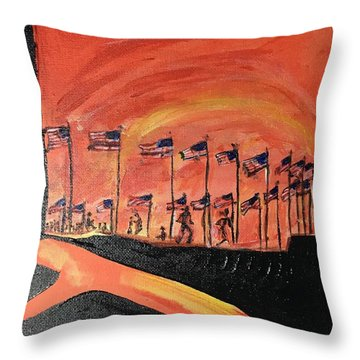 Monument II Throw Pillow