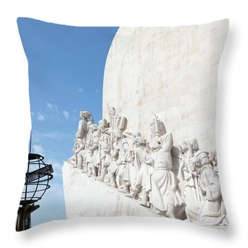 Throw Pillow featuring the photograph Monument Of The Discoveries by Rebecca Cozart