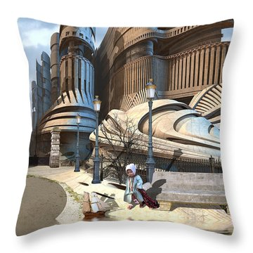 Monument Park Throw Pillow by Hal Tenny