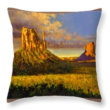 Monument Passage Throw Pillow