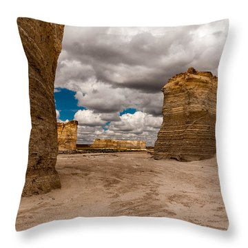 Monument Rocks Throw Pillow