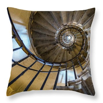 Monument Stairs Throw Pillow by Jae Mishra