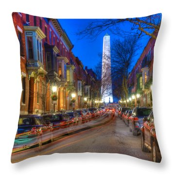 Monument Street Charlestown 023 Throw Pillow