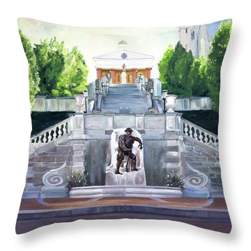 Monument Terrace Throw Pillow by J Luis Lozano