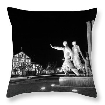 Monument To The Emigrant Throw Pillow by Gaspar Avila