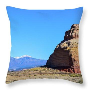 Monument To Time Throw Pillow