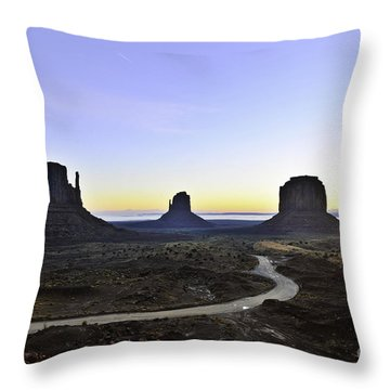 Monument Valley At Sunrise Throw Pillow