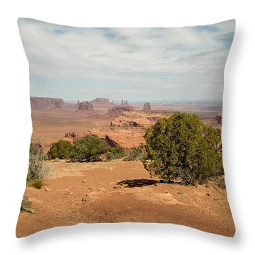 Monument Valley Throw Pillow by Fred Wilson