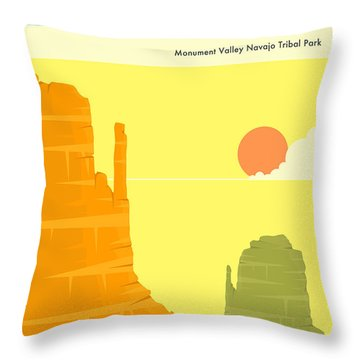 Monument Valley Throw Pillows
