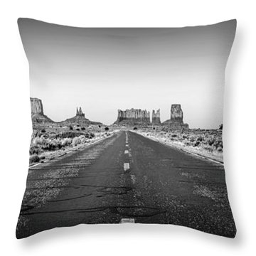 Freedom Bw Throw Pillow