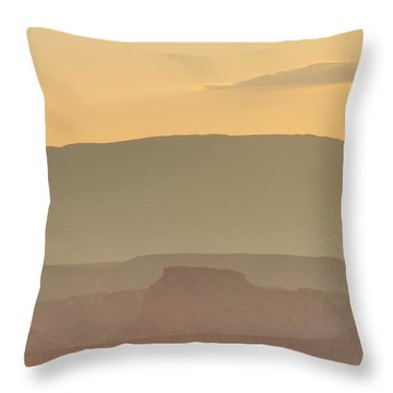 Monument Valley Layers Throw Pillow