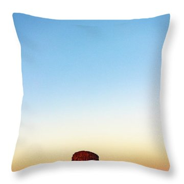 Monument Valley Morning Glory Throw Pillow