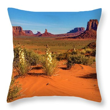 Throw Pillow featuring the photograph Monument Valley by Norman Hall