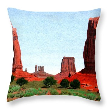 Monument Valley North Window Throw Pillow