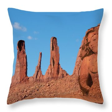 Monument Valley Nymph #3 Throw Pillow