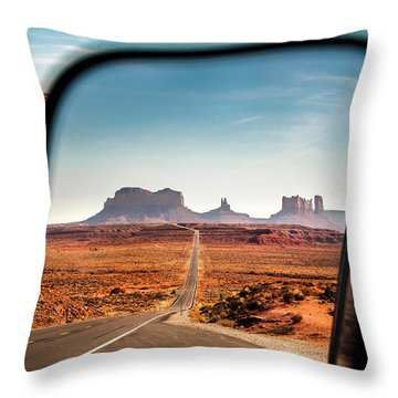 Monument Valley Rearview Mirror Throw Pillow
