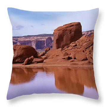 Monument Valley Reflection Throw Pillow