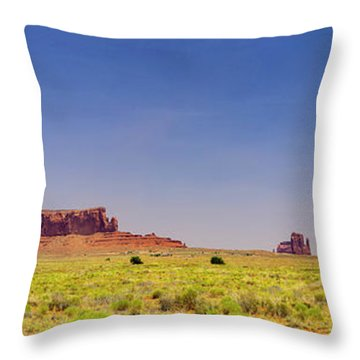 Monument Valley South View Throw Pillow