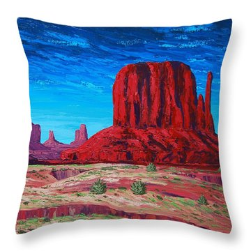 Monument Valley Storm Throw Pillow