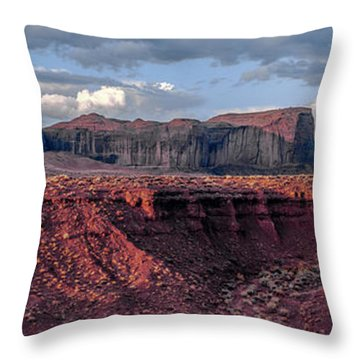 Monument Valley Sunrise Throw Pillow