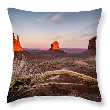 Monument Valley Sunset Throw Pillow